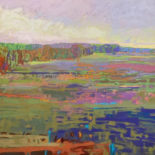 Paintings by Jane Schmidt ArtWorks seen at Riverview Station, Asheville - Color Field #24