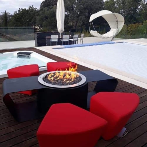 Fireplaces by GLAMMFIRE seen at Private Residence, Quarteira - Circus