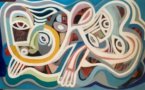 Paintings by Roy B Wilkins seen at Private Residence, Malvern East - Love Unlimited