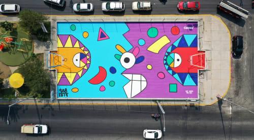 "Street Murals by Pablo Benlliure seen at Ciudad Nezahualcóyotl, Ciudad Nezahualcóyotl - ""Ashanti"" (Poder y victorias)"