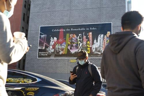Street Murals by Bianca Romero seen at New York, New York - bianca romero x Makers Mark collaboration - 11 murals