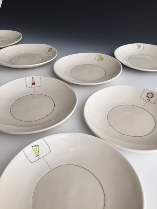 Ceramic Plates by Paula West Pottery LLC seen at San Juan Island - Lunch Plate