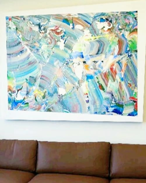 Paintings by Robert Standish seen at Norwest Venture Partners, Palo Alto - Coastal Winds