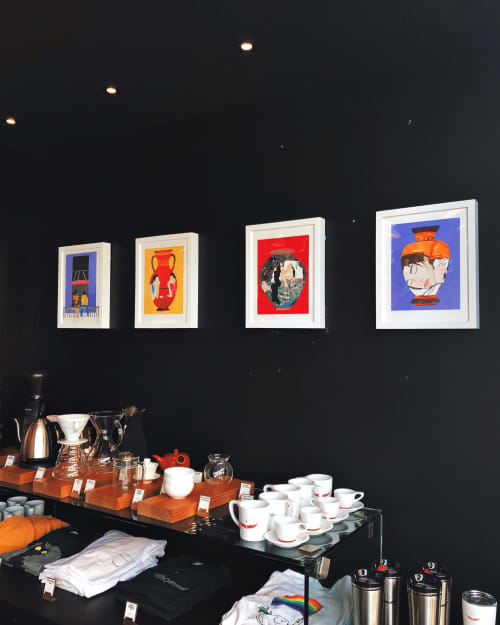 Paintings by David Heo seen at Intelligentsia Coffee Wicker Park Coffeebar, Chicago - Paintings and Works on paper