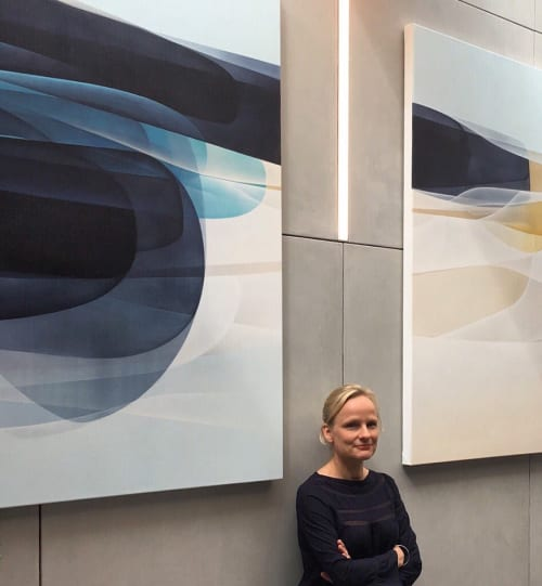 Paintings by Agneta Ekholm seen at Novotel Melbourne South Wharf, South Wharf - Occurrance 2018 (Triptych )