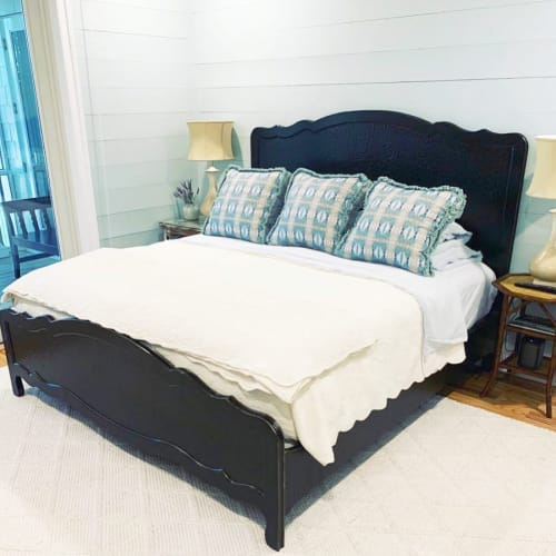 Linens & Bedding by Laura Park Designs seen at Private Residence - Little Chapel Light Blue Fabric