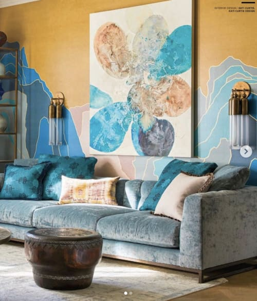 Paintings by Meredith Pardue seen at Private Residence, New York - Carribea Series