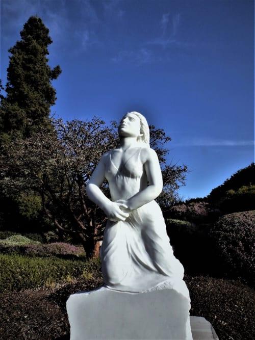 Sculptures by John Fisher Sculptures seen at Mendocino Coast Botanical Gardens, Fort Bragg - Prayer