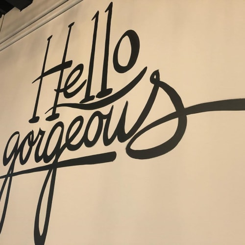 Murals by Wilkins Art & Creative Inc. seen at JouJou Hair Studio, Toronto - HELLO GORGEOUS!
