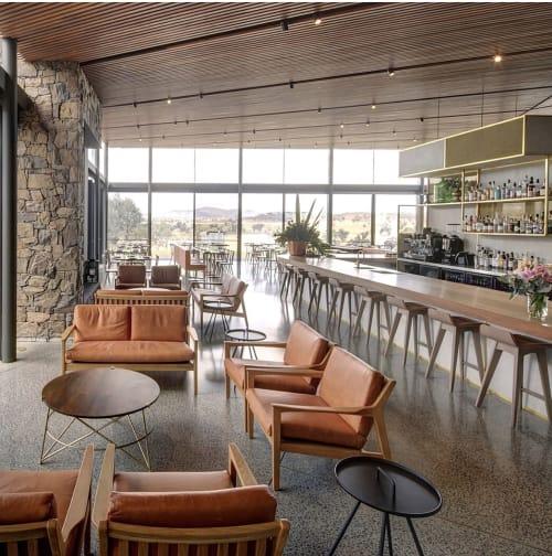 Chairs by SATARA seen at Goonoo Goonoo Station, Tamworth - Americano Lounge Chairs and  Sofa in Leather by SATARA