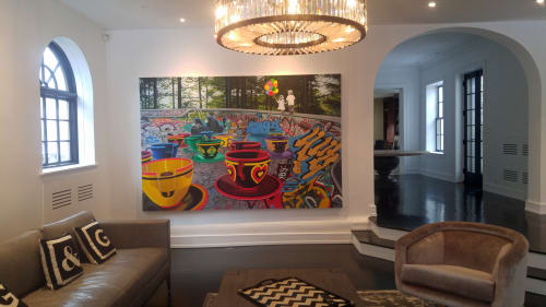 Paintings by Nicole Gordon seen at Private Residence, Chicago - Artwork installation