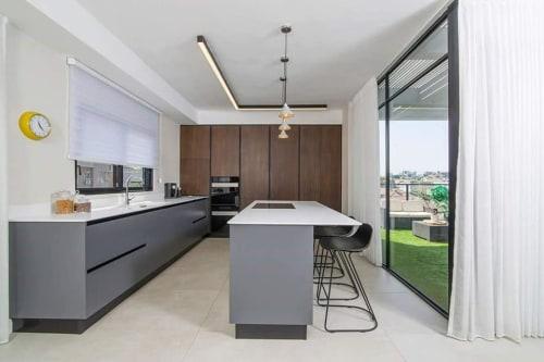 Pendants by Vaspi Studio seen at Private Residence, Tel Aviv-Yafo - M422 - Pendant Lightweight Concrete Lamp