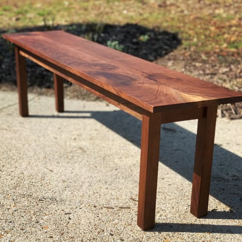 Tables by Porush Woodworking seen at Private Residence, Williamsburg - Solid Walnut Bench Style Coffee Table