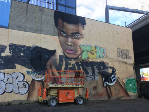 Murals by paink seen at Melbourne, Melbourne - Muhammad Ali Mural