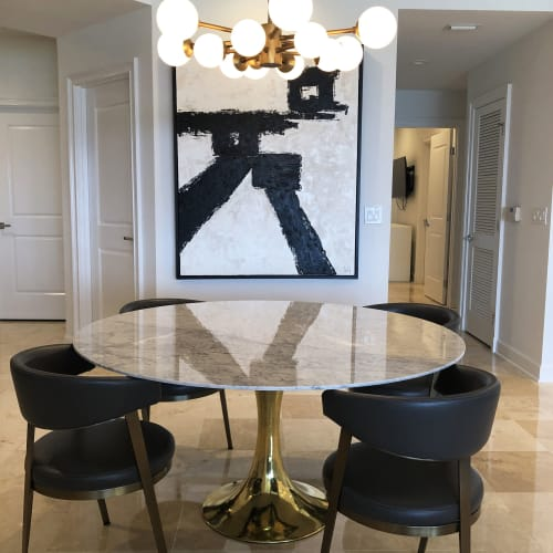 Paintings by Lauren Hall seen at Private Residence, Miramar Beach - LAH no. 13