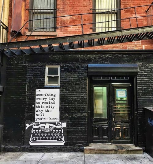 Street Murals by WRDSMTH seen at Manhattan, New York - Do Something