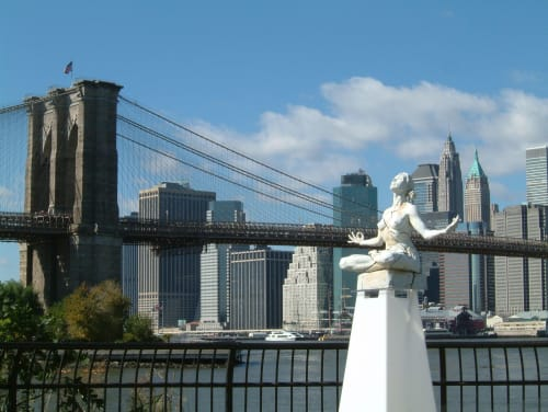 Public Sculptures by Paige Bradley seen at Brooklyn Bridge Park, Brooklyn - Expansion