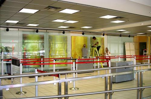 Public Art by Heidi Thompson Canadian Artist seen at Kelowna International Airport, Kelowna - OK Sunshine