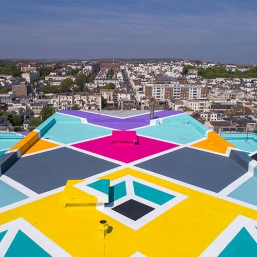 Murals by ART+BELIEVE seen at Holiday Inn Brighton - Seafront, Brighton - SKY GALLERY
