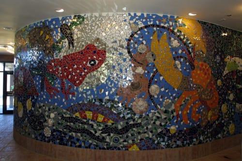 Public Mosaics by Deirdre Saunder seen at Croydon Creek Nature Center, Rockville - Gaea's Corner