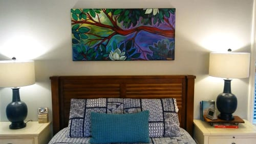 Murals by Skinny Dope seen at Private Residence, Baton Rouge - Rougewood Tree
