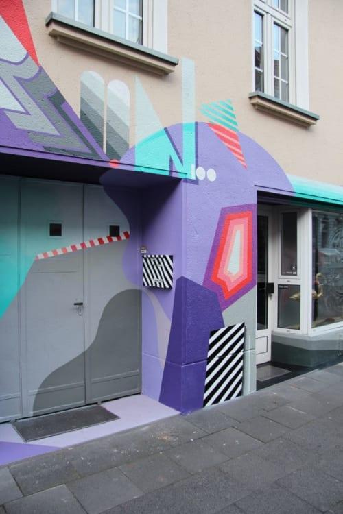 Street Murals by Semor the mad one seen at Roonstraße 100, Köln - Facade design with Random-EXP