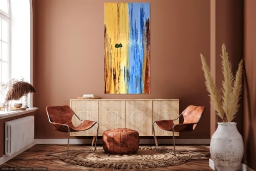 Paintings by Dutch Montana Art seen at Hugo Rivera Gallery, Laguna Beach - Laguna Beach Canyon #20