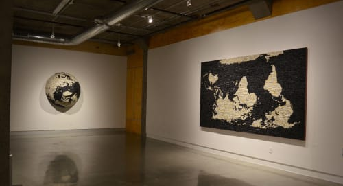 Sculptures by Bart Vargas seen at KANEKO, Omaha - There Are Places On The Map That Do Not Exist 2019