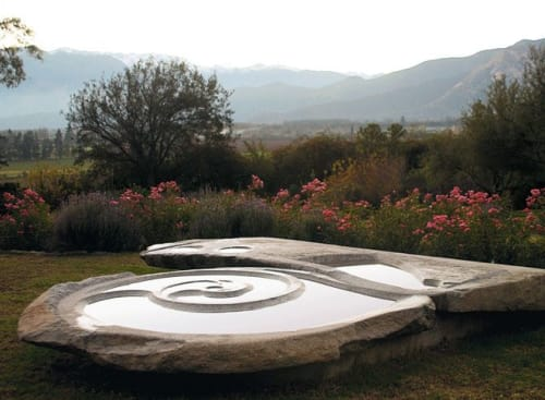 Public Sculptures by Francisco Gazitua seen at Panquehue, Panquehue - Espiral de la Vida