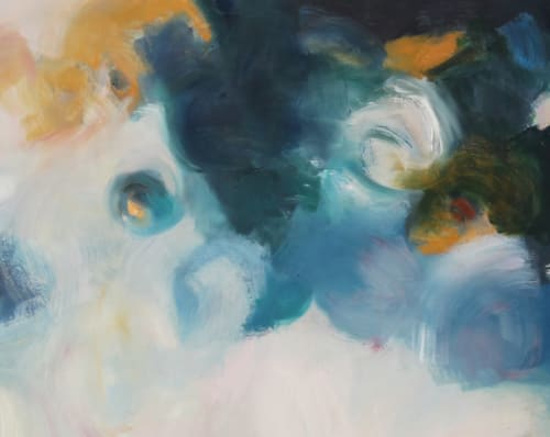 Paintings by Cecilia Arrospide at Private Residence, Miraflores, Comas, Comas - BLUE STRENGH
