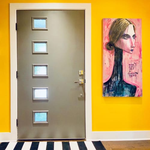 Paintings by Liz Haywood seen at Private Residence, Johns Creek - Goddam
