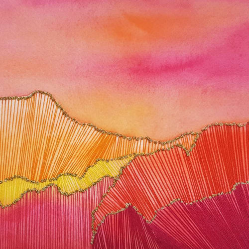 Paintings by Laila Vazquez - Pink Sunset