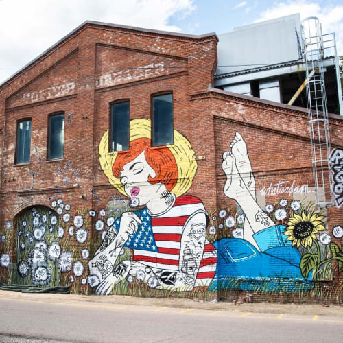 Murals by Whatisadam seen at The Source Hotel, Denver - Mural
