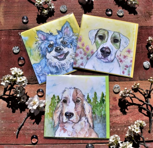 Art & Wall Decor by Alison Archbold seen at Creator's Studio, Googong - Dog Greeting cards and limited edition prints