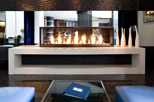 Furniture by Concreteworks seen at W San Francisco, San Francisco - Fireplace Surround