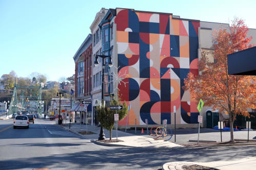 Street Murals by Scott Albrecht seen at Easton, Easton - Easton Mural