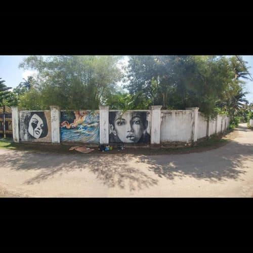 Street Murals by Stefania Gallina - MAPU Lab seen at Ahangama, Ahangama - Mandala - Commissioned wall