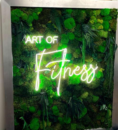 Art & Wall Decor by MossBoss NYC seen at Tenafly Art of Fitness, Tenafly - Custom Moss Wall Art