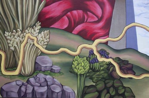 Street Murals by Ali Hval seen at Cedar Rapids, Cedar Rapids - American Discovery Trail Mural
