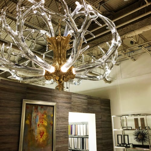 Chandeliers by LWSN seen at Houston, Houston - The Crystal Antler Chandelier