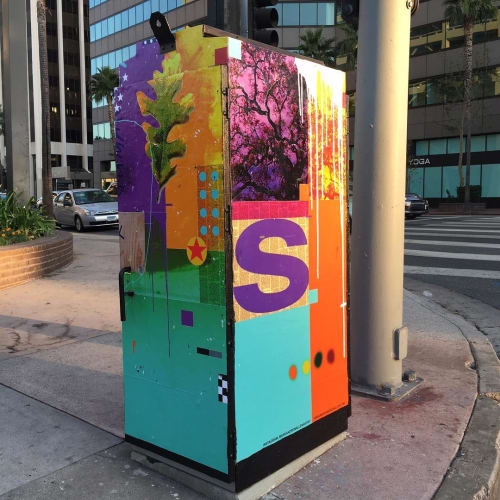 Street Murals by Mark Andrew Allen seen at Ventura / Sepulveda, Los Angeles - Utility Box Art