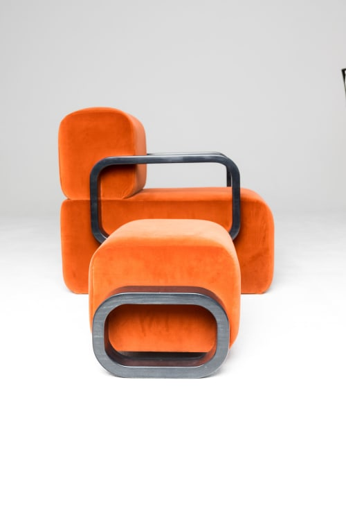 Chairs by Marie Burgos Design seen at NYCxDesign Co, New York - Cayenne Lounge Chair and Ottoman