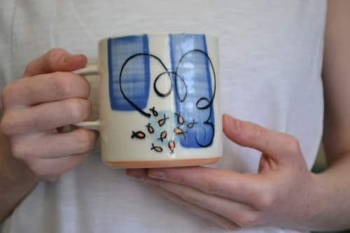 Cups by Natasha Swan Ceramics seen at Private Residence, Whitehead - Seaside Edition 10oz