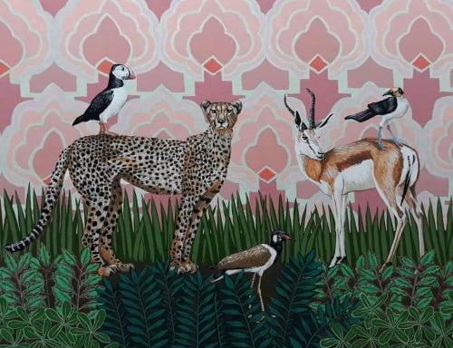Paintings by Sarah Pratt seen at Sarah Pratt Studio, Cape Town - Animal Painting