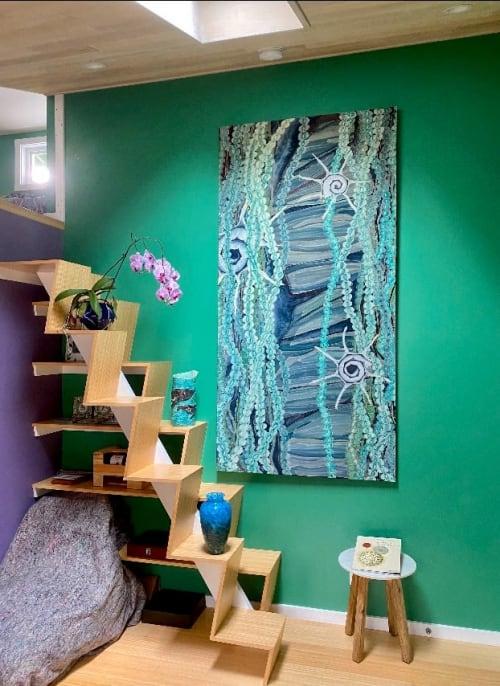 Paintings by Cudra Clover seen at Private Residence, Makawao - Allstar Algae