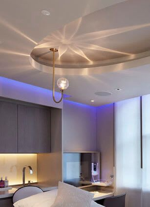 Lighting by Kirsti Taiviola seen at The House of ELEMIS, London - Lightbeam project