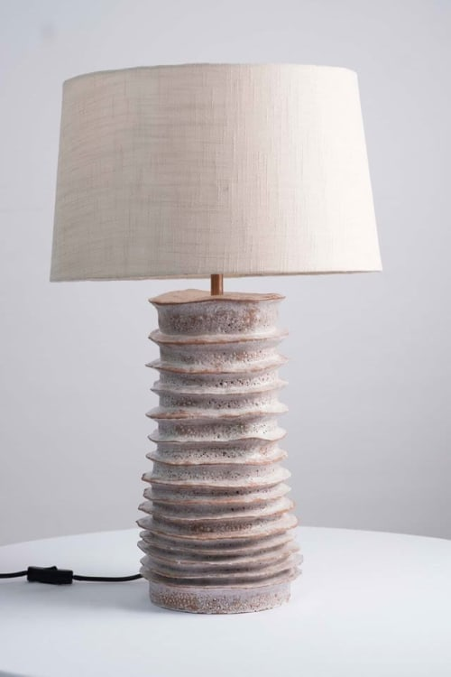 Lighting Design by Janet Ceramics seen at Franschhoek, Franschhoek - La Petite Ferme, Vineyard Suites, Franschoek