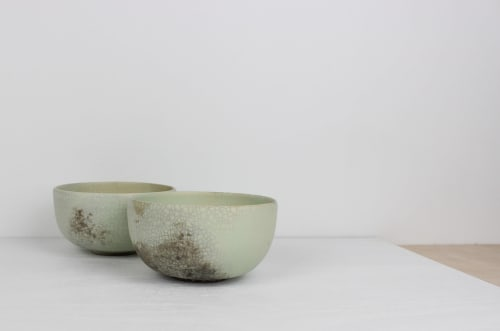 Tableware by caroleneilsonceramics seen at Private Residence, San Francisco - Smoky Matcha Mint Bowls. Set of 2.