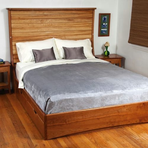 Furniture by Andy Rae Woodworking & Writing Studios seen at Private Residence, Asheville - QUEEN BED