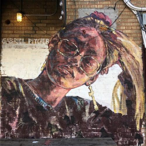 Street Murals by Gabriel Pitcher seen at Bushwick, Brooklyn - Brooklyn Girl